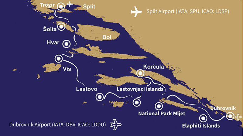7 Days Split to Dubrovnik Millenium Route