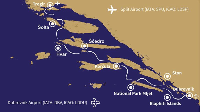 7 Days Split to Dubrovnik Phantasy Route
