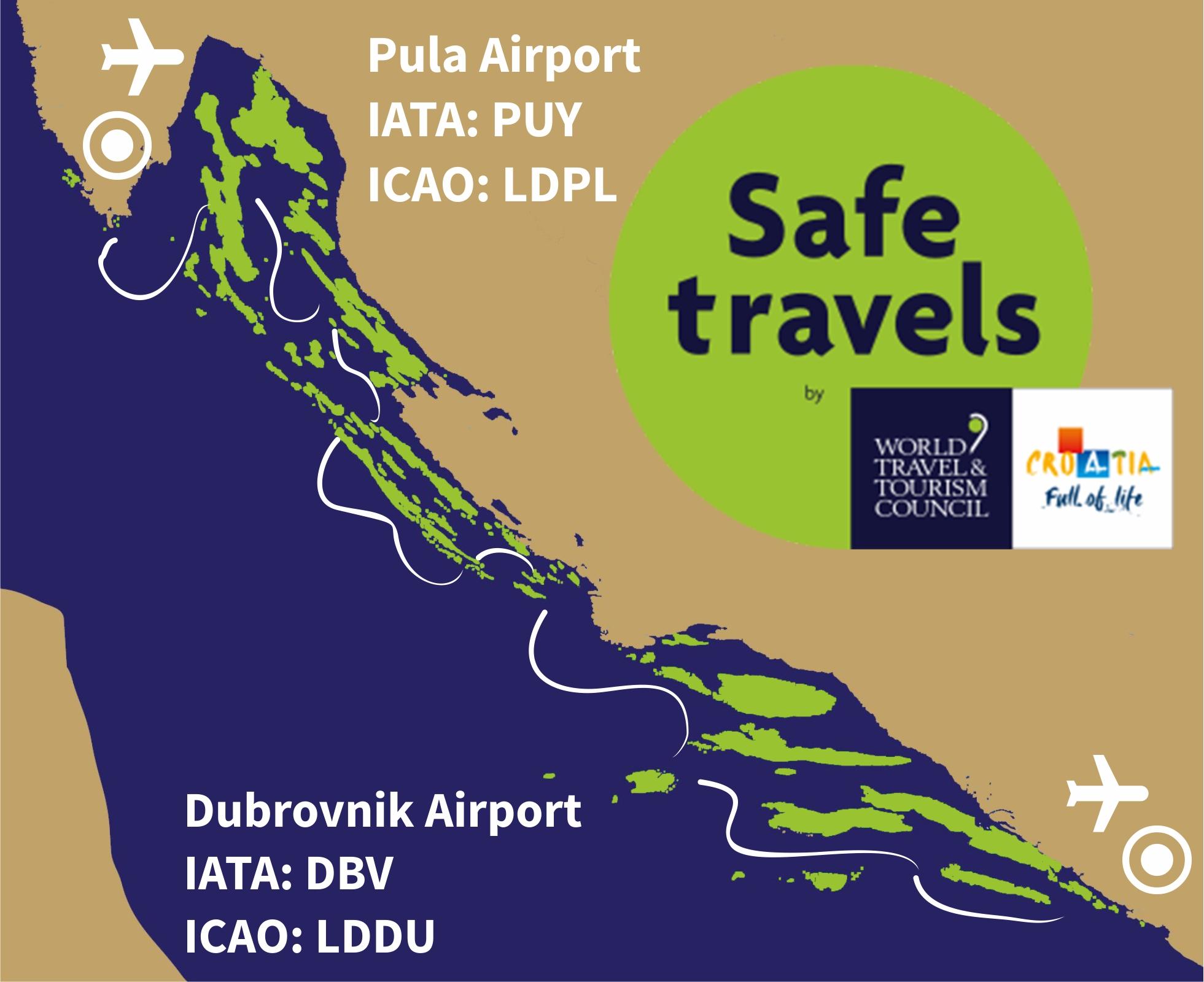 21 days Pula Dubrovnik sailing route SAFE Travels